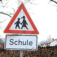 German school sign