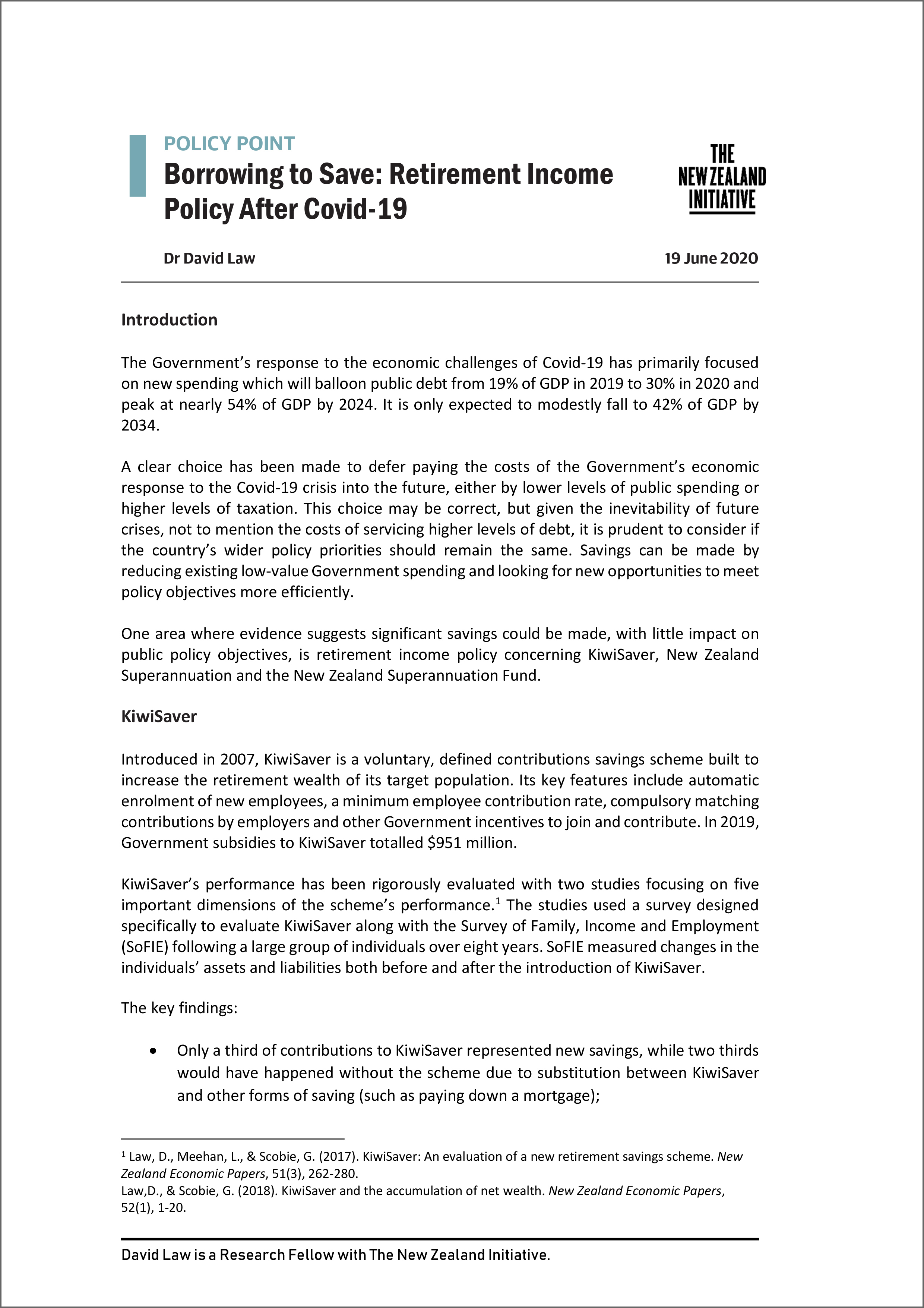 Policy Point Borrowing to Save Retirement Income Policy After Covid 19 3