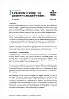 Policy Point For better or for worse How governments respond to crises 002 1