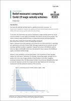 Relief measures comparing Covid19 wage subsidy schemes 1