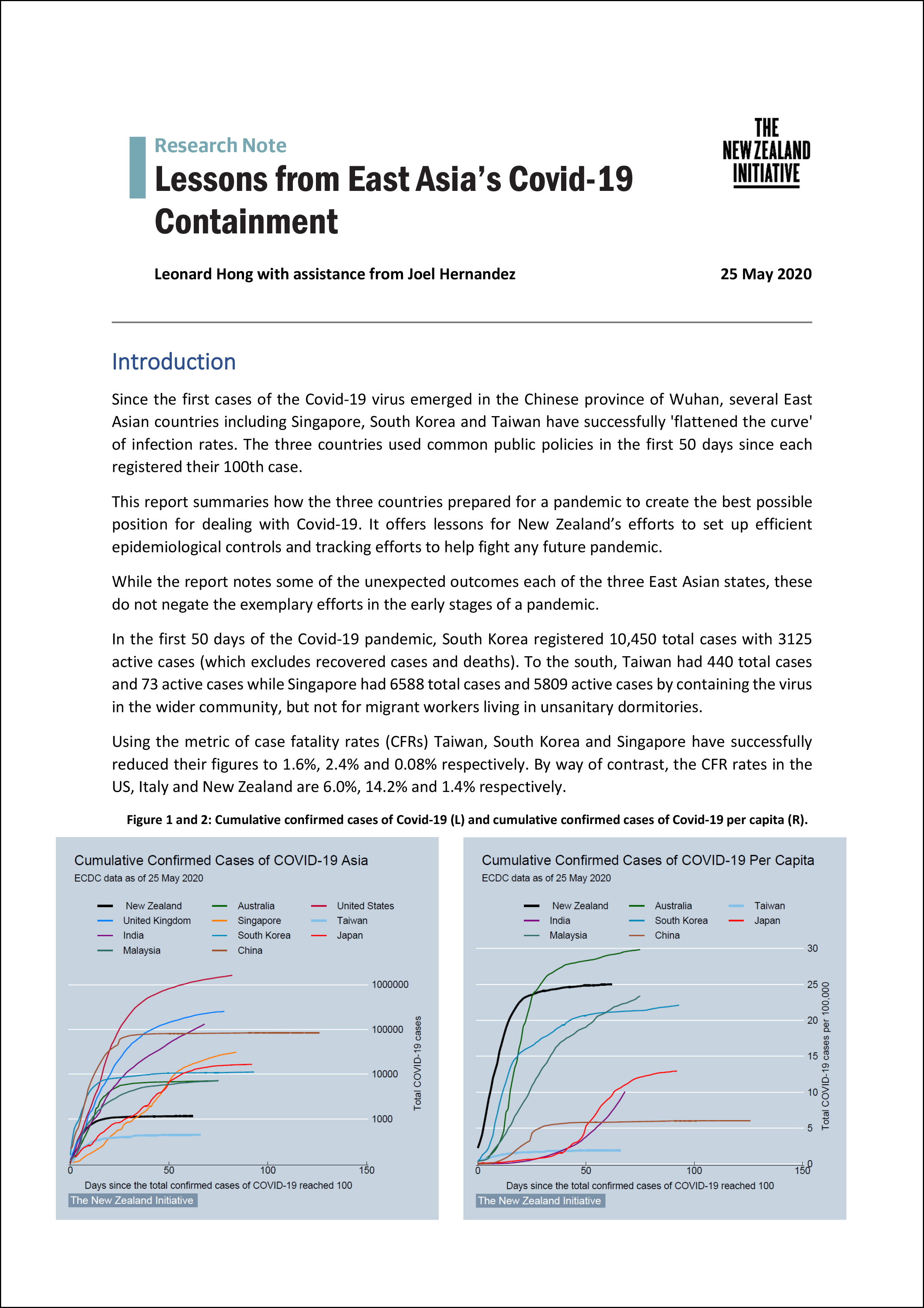 Research Note Lessons from East Asias Covid 19 Containment 1