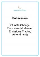 Submission Climate Change Emissions Trading cover