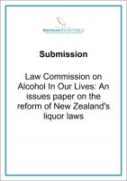 Submission Law Commission on Alcohol on our lives cover