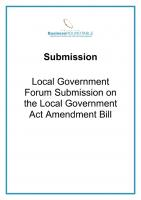 Submission Local Government Act Amendment Bill cover