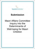 Submission Maori Affairs Committee inquiry cover